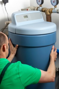 Water softener installation photo.